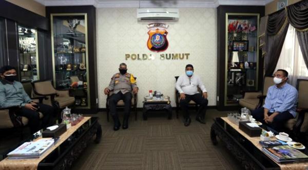 Ketua PWI dan SPS Sumut Audiensi Ke Kapolda Sumut