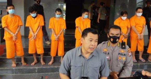Polisi Ciduk 9 Tersangka Dengan 159 Kg Ganja Kering