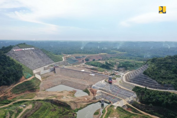 Progres Pembangunan Capai 75 Persen, Bendungan Margatiga Ditargetkan Rampung Akhir 2021