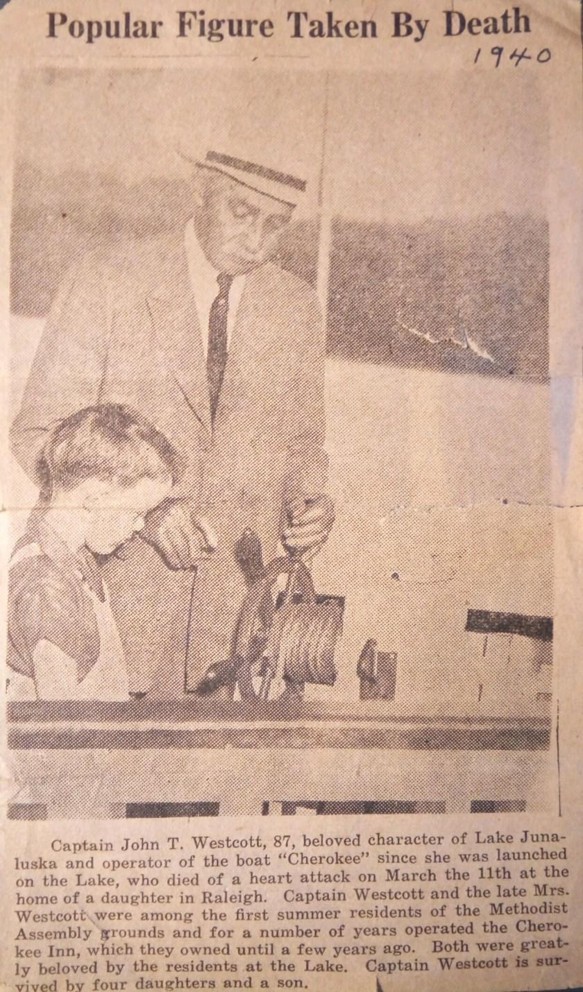 John T. Wescott Popular Figure Newspaper Article