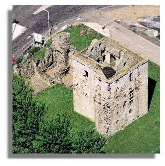 Buildings, Scotland - Rosyth Castle, Fife - aerial shot