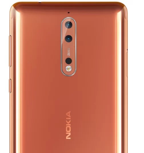 Nokia 8 Back design