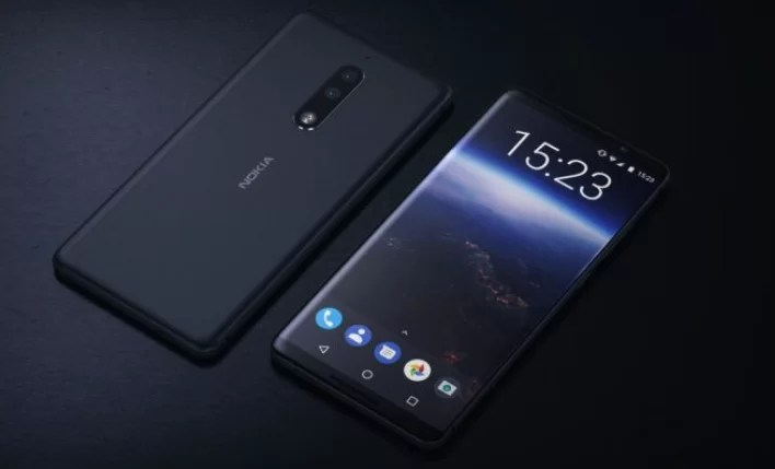Nokia 9 phone with OLED display