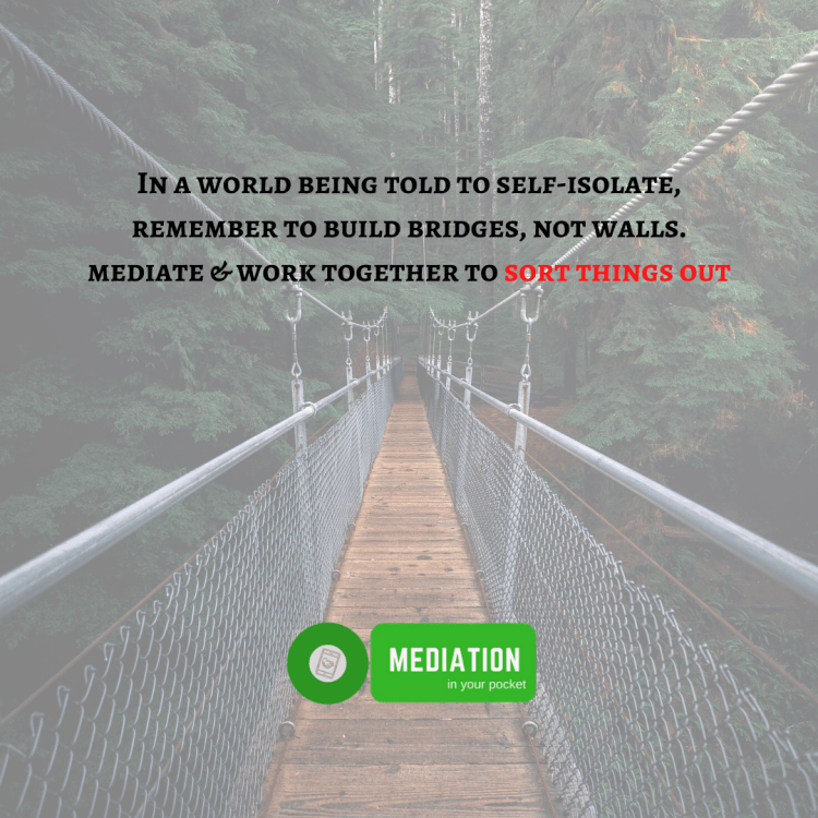 mediation self-isolation