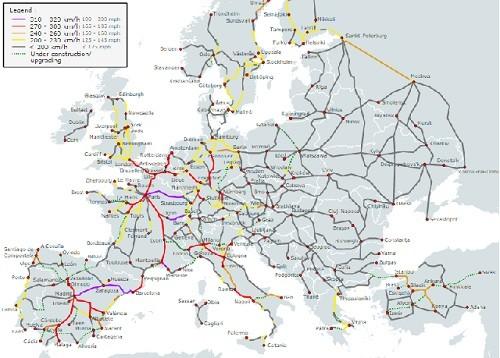 Eurail Map 500x358