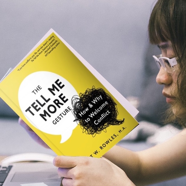 Profile of young woman intently reading The Tell Me More Gesture: How & Why to Welcome Conflict