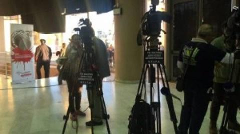 Διαμαρτυρία τεχνικών  στο συνέδριο του ΣΥΡΙΖΑ