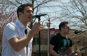 Steve Mecca, lead singer of Peat Moss and the Fertilizers, a cover band based in West Islip, performed at Stony Brook University's Earthstock festival. Photo by Trevor Christian. (April 25, 2014)