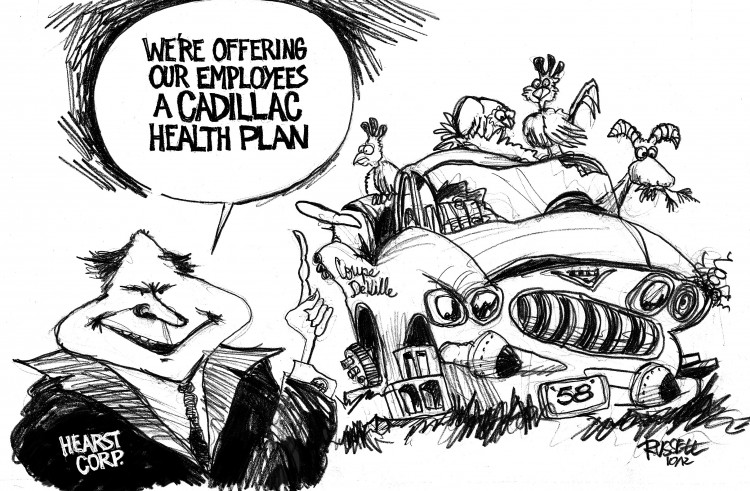 Cartoon Hearst Cadillac Plan by George Russell