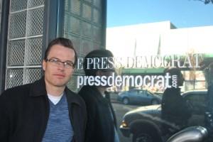 Derek Moore, unit chair of Santa Rosa Press Democrat.  Photo by Kat Anderson, Freelance unit, 2012