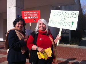 San Mateo Superior Court Interpreters Carla Cuevas and Diana Gillespie.