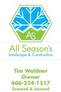 All-seasons-Landscape and Contruction Bozeman Montana business card-design-illustration