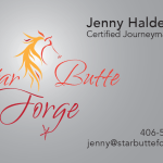 Graphic Design and Illustration for Star Butte Forge Business Card Design Chinook MT
