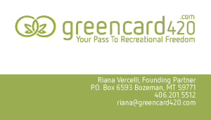 Greencard420 Bozeman-Business-card-design