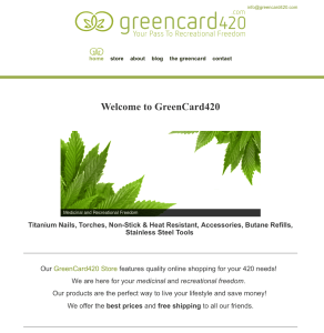 Greencard_420_website_design_bozeman_montana