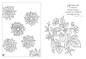 Coloring Book Illustration and Graphic Design Mothers Day Coloring Book_Page_01