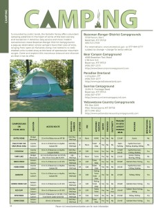 Bozeman Camping Ad Graphic Design Illustration