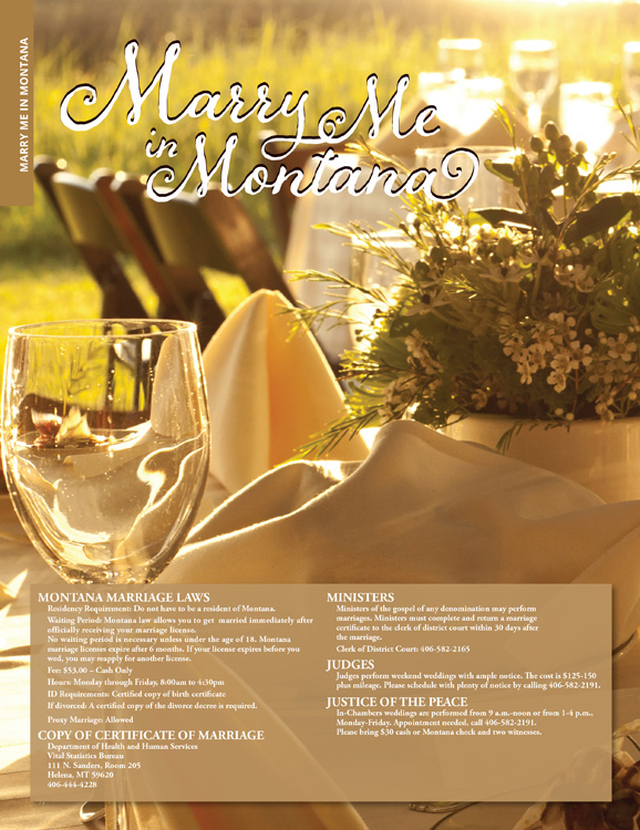 Bozeman Wedding Ad Graphic Design