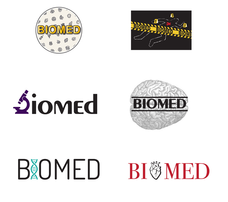 School Sticker Illustrations and Graphic Design for Biomed program