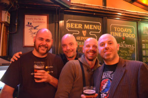 bald men at bar