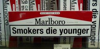 Cigarette pack warning