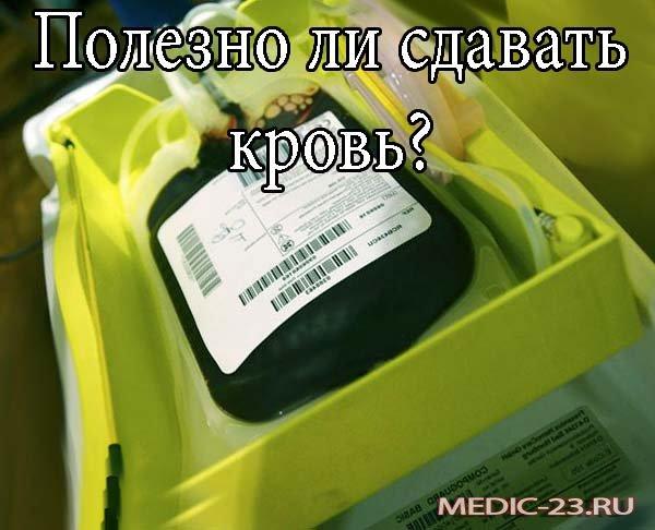 Полезно ли сдавать кровь?