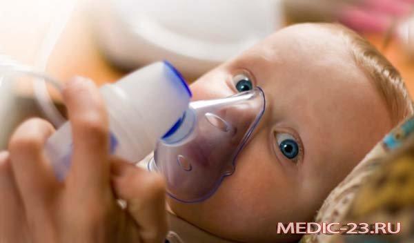 Малышу снимают бронхоспазм