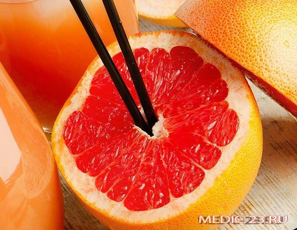 Грейпфрут несовместим с некоторыми продуктами