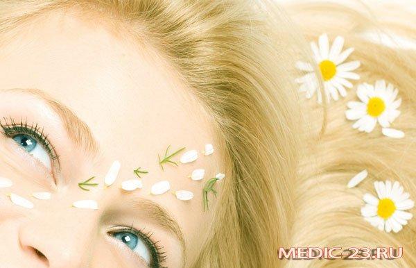 Использование ромашки для ополаскивания волос