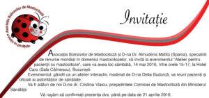 Invitatie Asociatia Bolnavilor de Mastocitoza