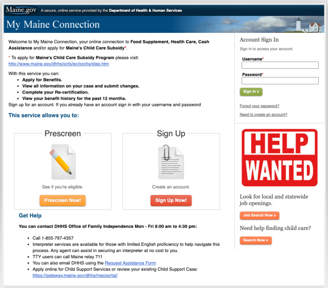 """""""Apply for Maine Medicaid Online"""""""