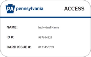 """""""Pennsylvania Medicaid Card"""""""