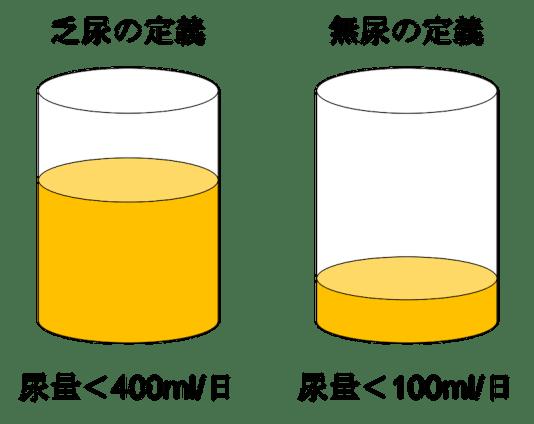 definition of oliguria and anuria