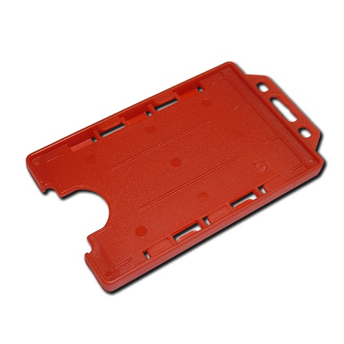 Red Double-Sided Portrait Card Holder