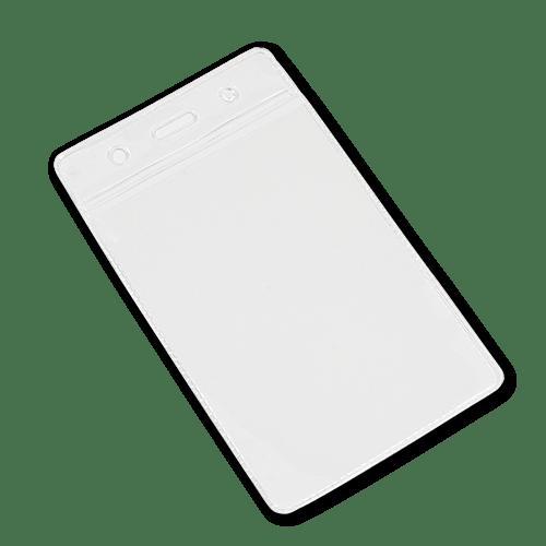 Portrait Vinyl Card Holder - Clear Top