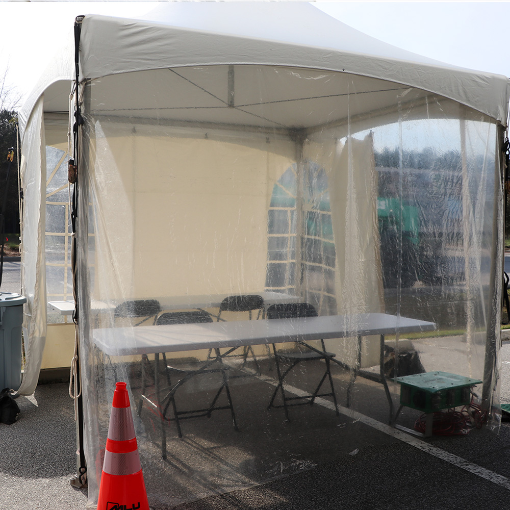 Equipped Checkin Tent
