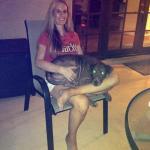 Julienne is a lap dog!
