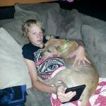 Piper is a cuddler!