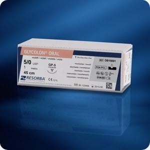 GLYCOLON® violet DS 18 USP 5/0 70 cm (24 stuks/doos)