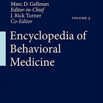 Encyclopedia of Behavioral Medicine PDF