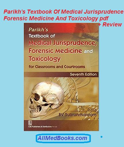 Parikh's Textbook Of Medical Jurisprudence Forensic Medicine And Toxicology pdf