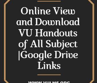 VU Handouts