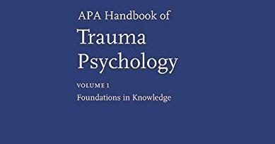 APA Handbook Of Trauma Psychology PDF Free Download