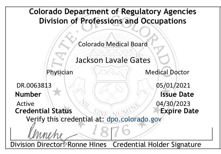 Colorado Medical License