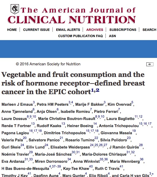 Emaus M. J. et al. Vegetable and fruit consumption and the risk of hormone receptor–defined breast cancer in the EPIC cohort //The American journal of clinical nutrition. – 2015. – С. ajcn101436.