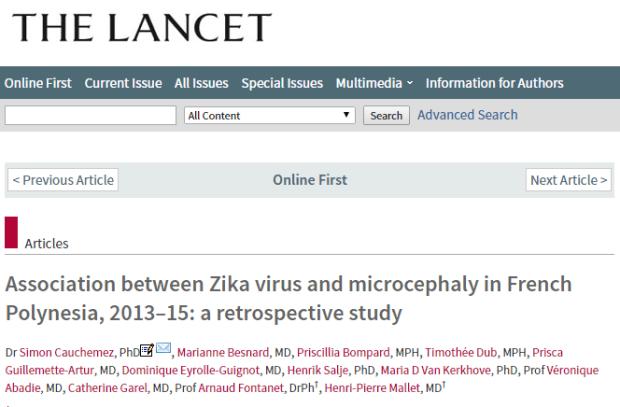 вирус Зика, беременность, The Lancet, микроцефалия