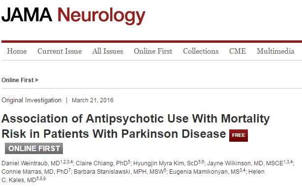 болезнь Паркинсона, JAMA Neurology