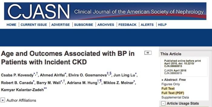 гипертония, заболевания почек, Clinical Journal of the American Society of Nephrology