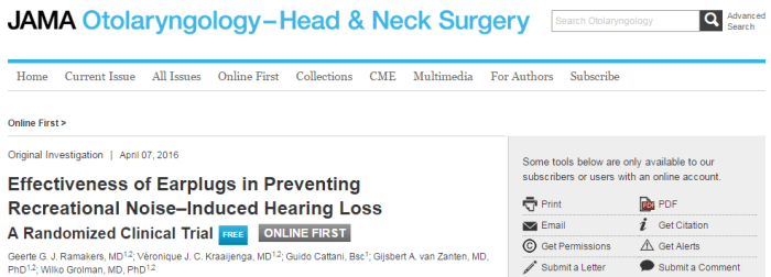 JAMA Otolaryngology-Head & Neck Surgery, потеря слуха