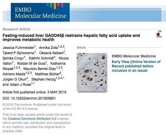 голодание, EMBO Molecular Medicine,